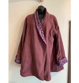 Nepal, Fleece Jacket Plum w/ Pattern