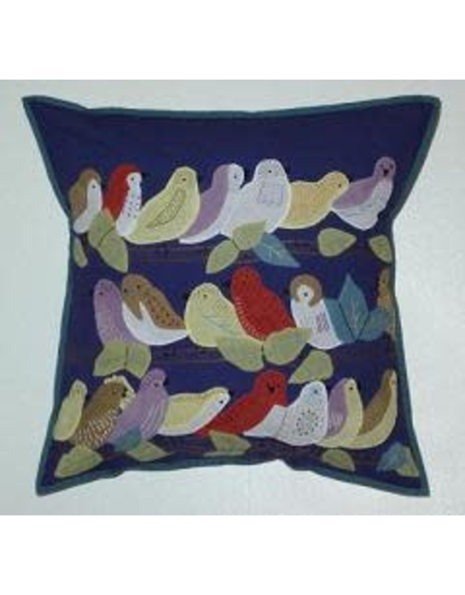 "18 x 18"" Pillow Birds on a Limb, India"