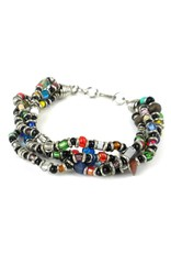 4 Strand Bead Bracelet, Multicolored