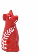 Soapstone Dog, Red