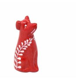 Soapstone Dog, Red Mini