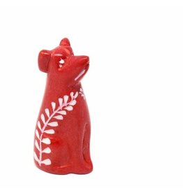 Soapstone Dog, Red