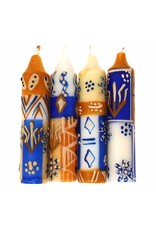 Hand painted Shabbat/Dinner Candles, Durra, Set of 4
