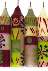 Hand painted Shabbat/Dinner Candles, Set of 4, Kielo