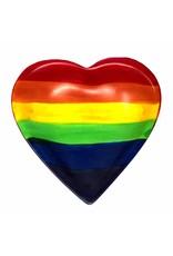 Rainbow Soapstone Heart Dish, Kenya