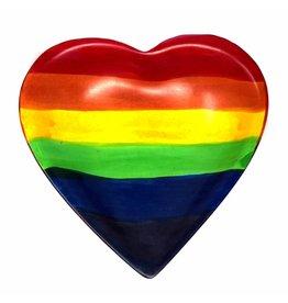 Rainbow Soapstone Heart Dish
