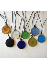 Recycled Glass Necklace, LIGHT BLUE, Kenya