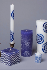 "South Africa, Henna White/Blue 9"" Taper Candles"
