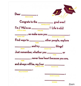 Mad Lib Graduation