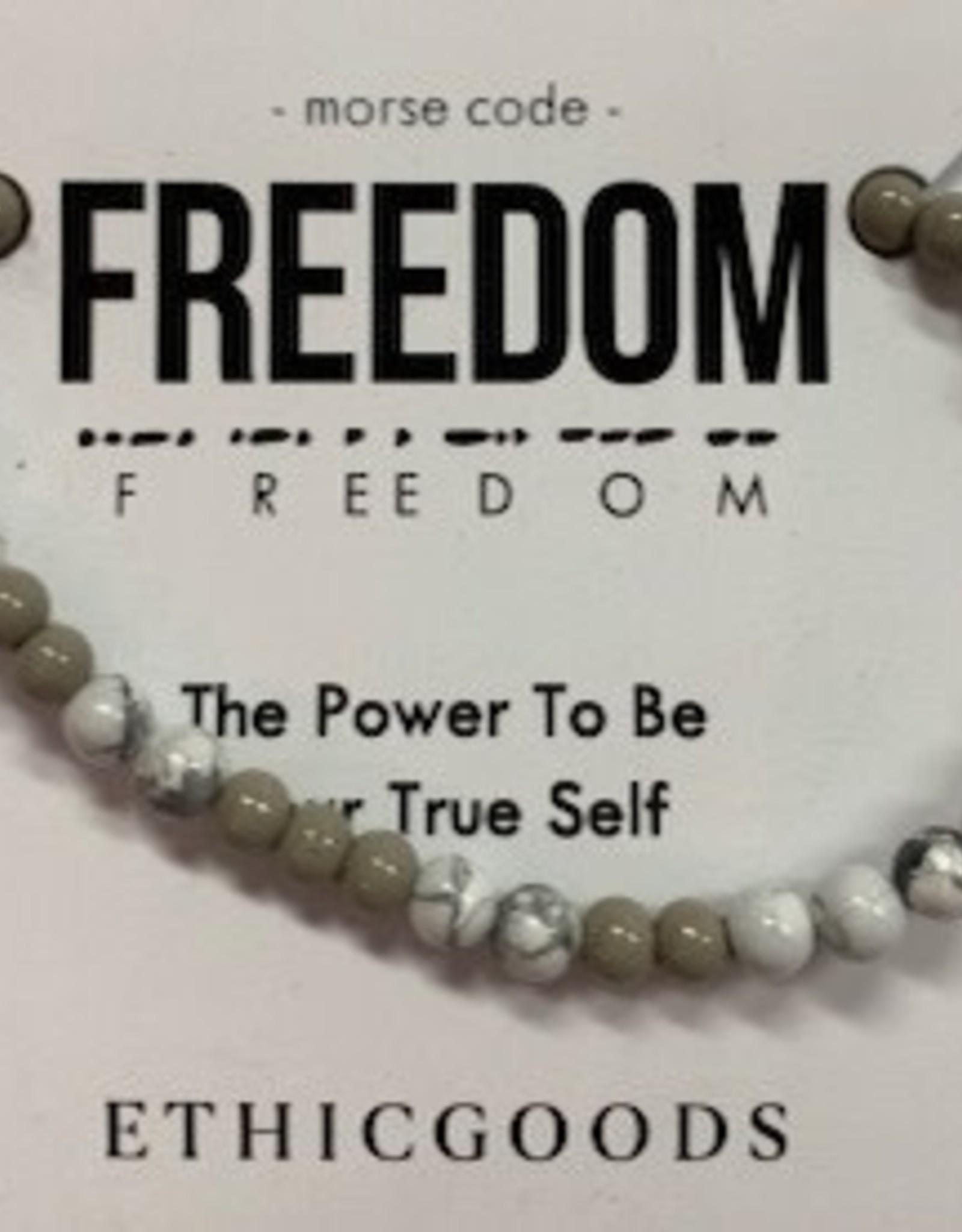 Morse Code FREEDOM