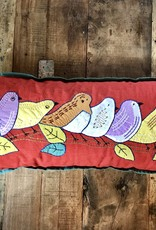 9 x 19 Inch Pillow Birds on a Limb, India