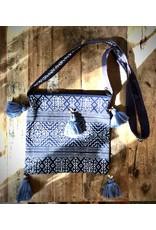 Crossbody Indigo Bag w/ Tassel, Thailand