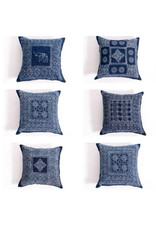 Indigo Block Print Pillow Cover
