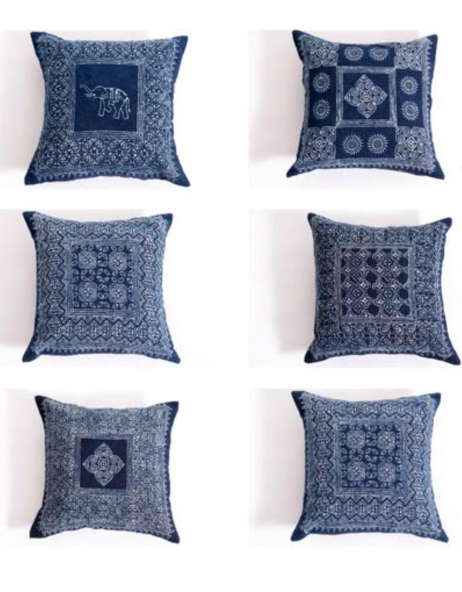 Indigo Block Print Pillow Cover