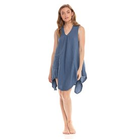 Pippy Cotton Tank Dress, Denim L/XL, Thailand