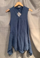 Pippy Cotton Tank Dress, Denim L/XL, Thailand