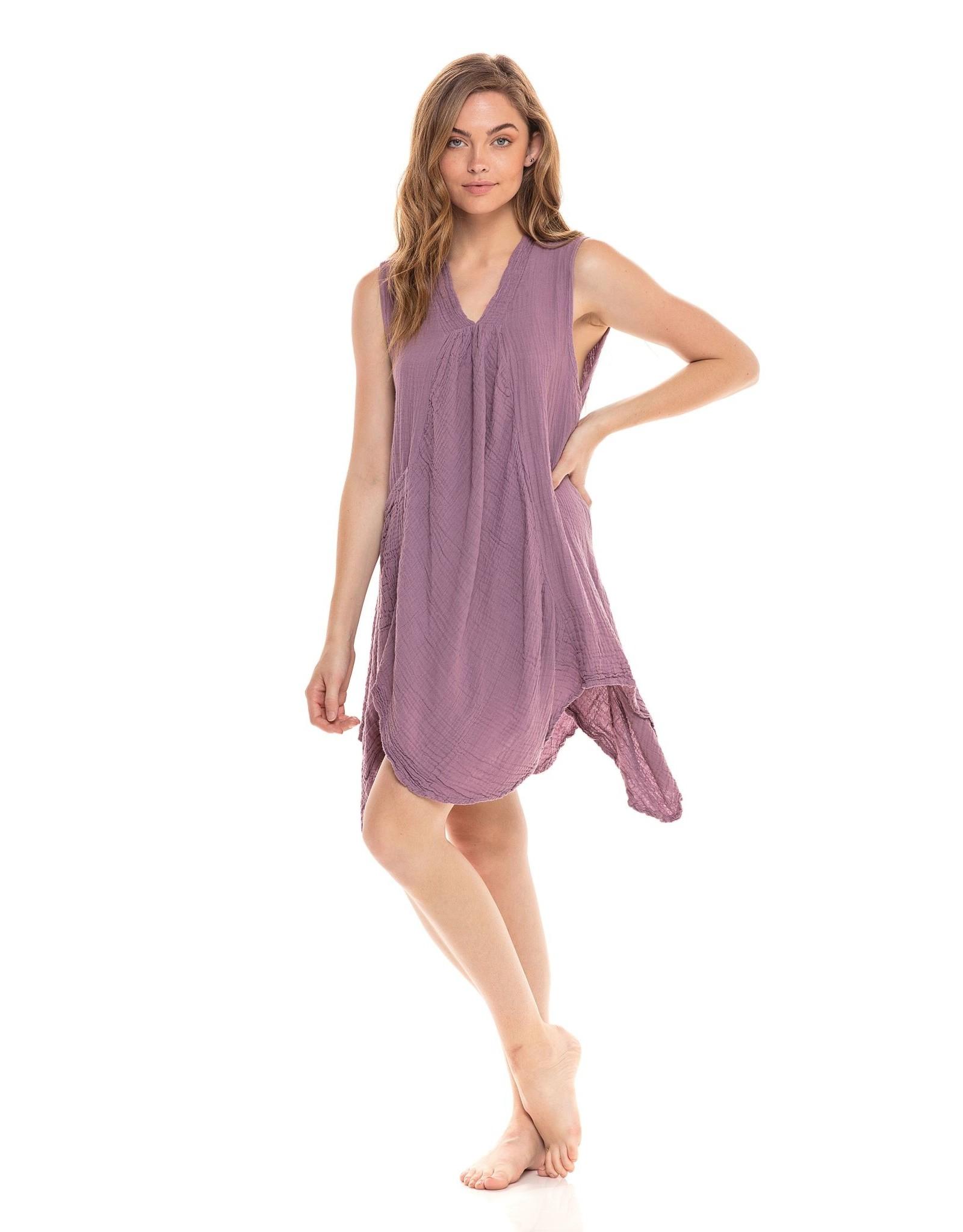 Pippy Cotton Tank Dress Lavender L/XL, Thailand