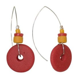 Full Circle Earrings, Poppy, Ghana