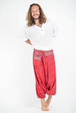 Tribal Top, Low Crotch Harem Pin Stripe Pants,  Red