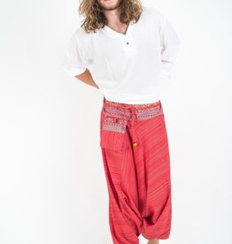 Tribal Top, Low Crotch Harem Pin Stripe Pants,  Red