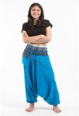 Tribal Top, Low Crotch Harem Pin Stripe Pants, Multicolor Prewashed