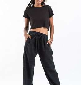 Tribal Top, Harem Pin Stripe Pants,  Black
