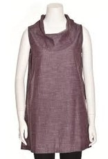 Organic Cotton Cowl Tunic Dress, India Aubergine (purple) S