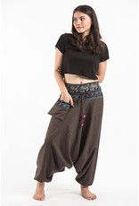 Tribal Top, Low Crotch Harem Pin Stripe Pants, Brown
