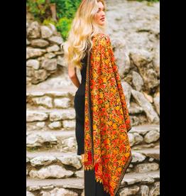 Sabari Embroidered Wool Shawl, India