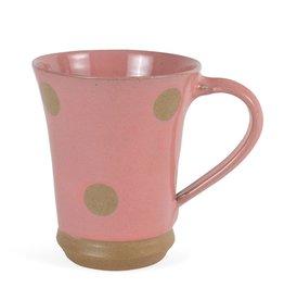 Ceramic Mug, Dots, Pink, Nepal