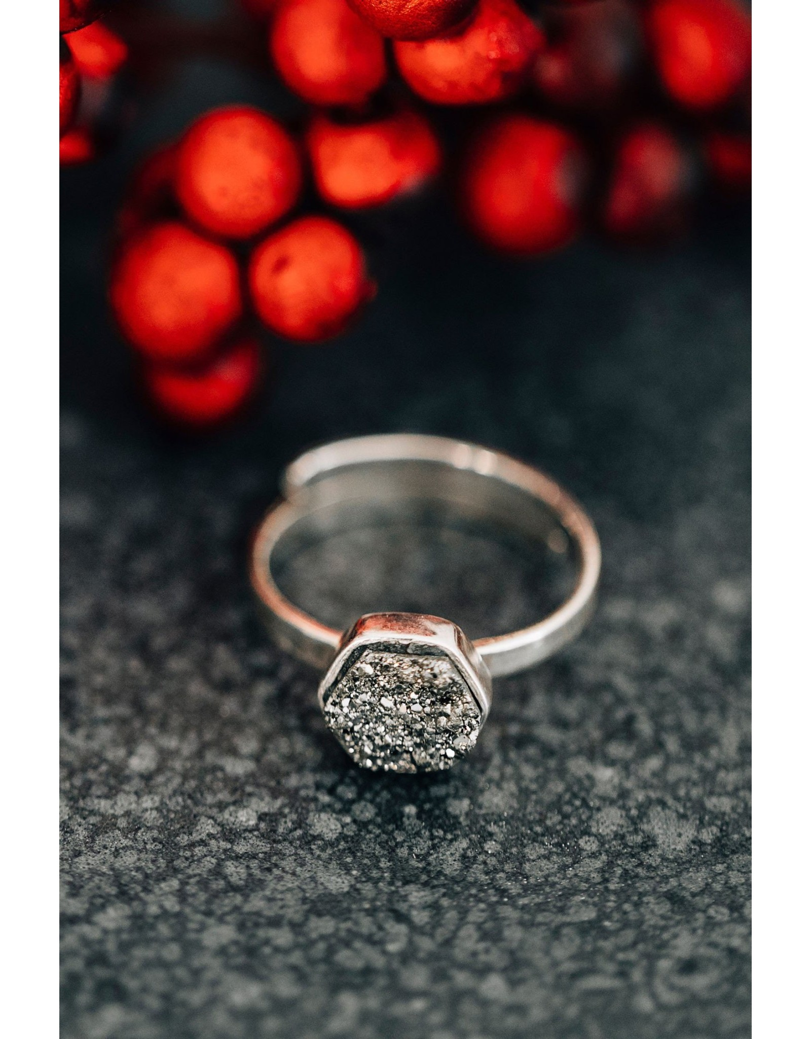 Sterling Pyrite Ring