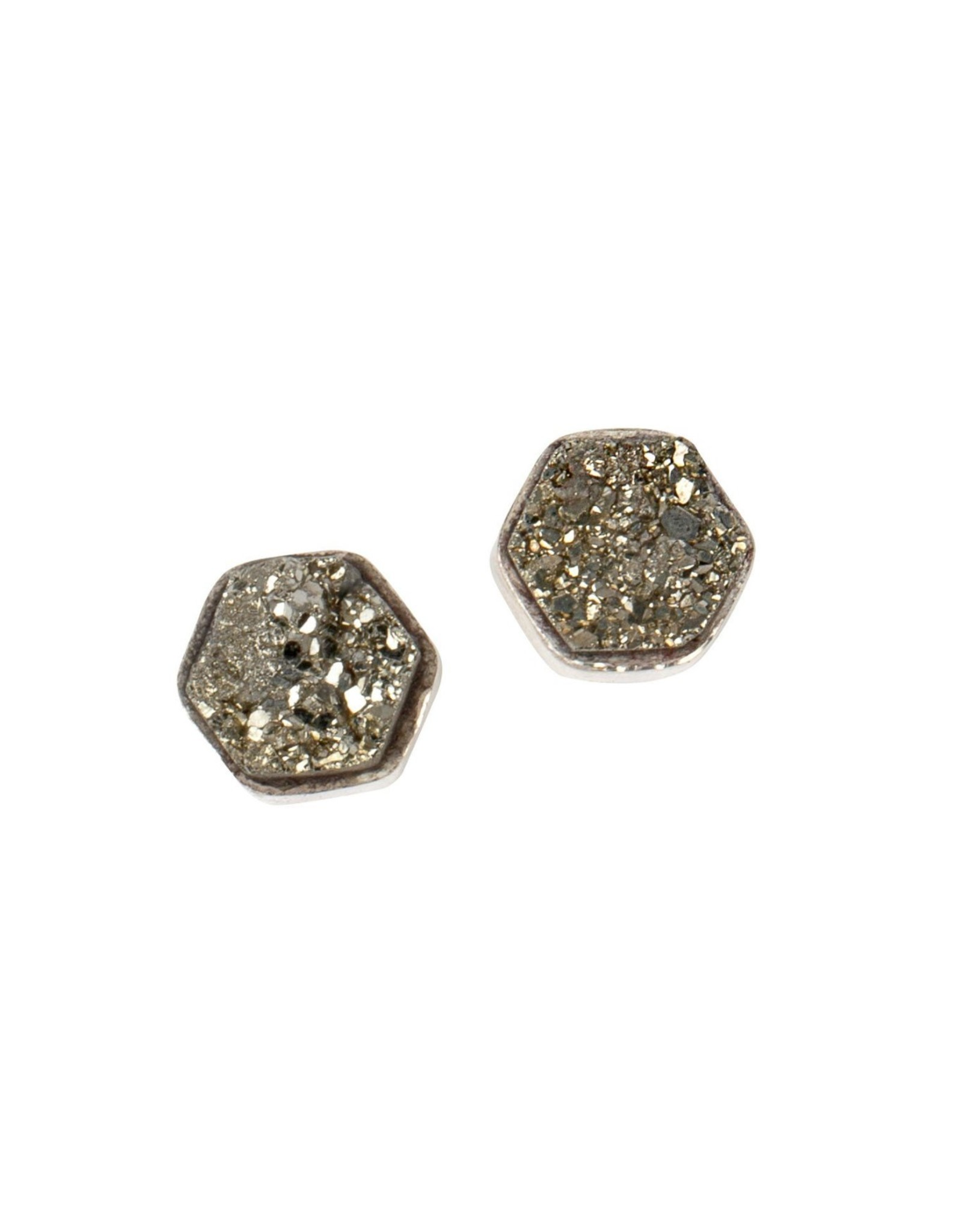 Sterling Pyrite Earrings
