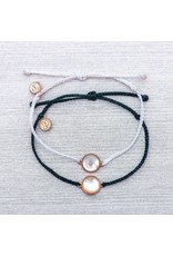 Mother of Pearl Stone Bracelet, BLACK ONLY