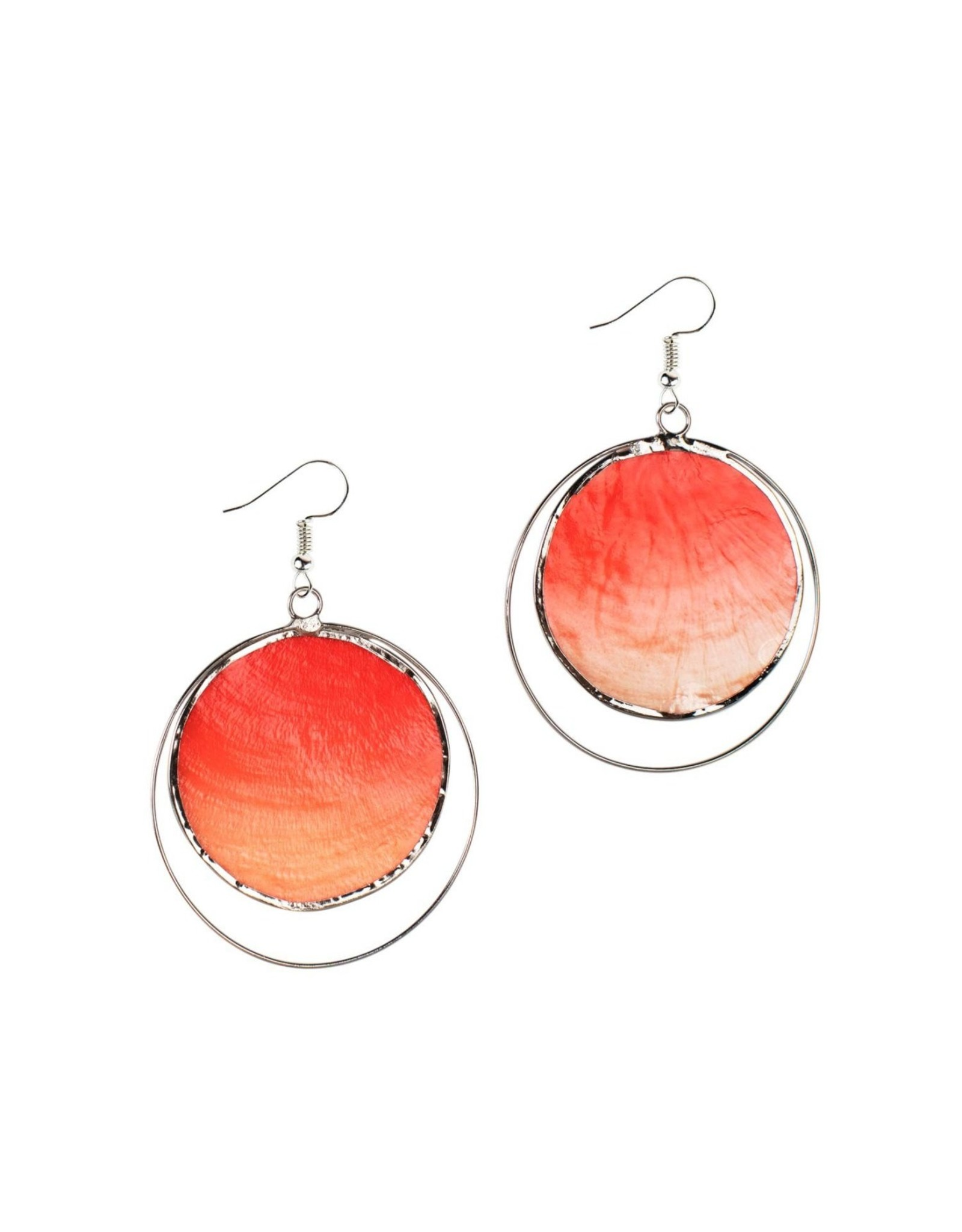 Fire Capiz Earrings