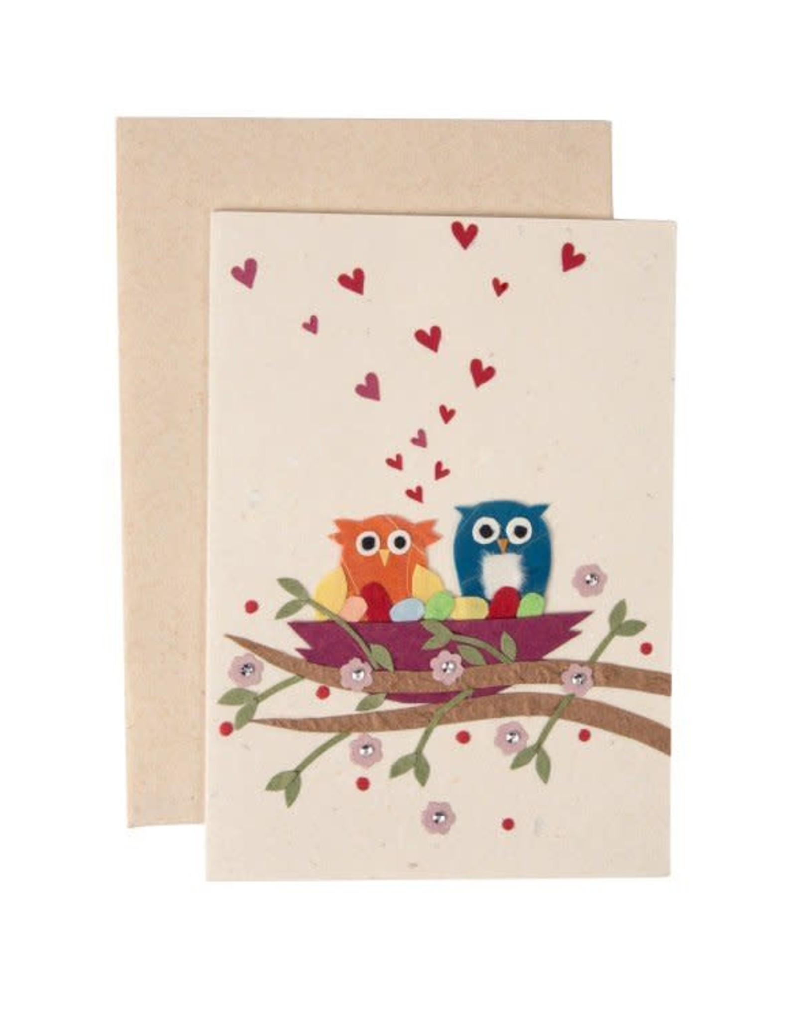 Owls in Love Card