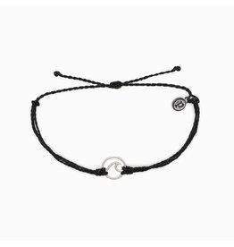 SILVER WAVE Bracelet, BLACK