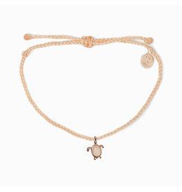 Pura Vida Sea Turtle Rose Gold Bracelet, Blush