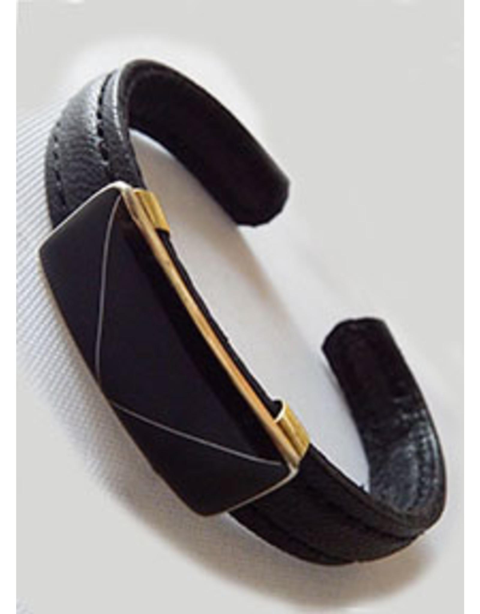 Black Kid Glove in Obsidian Stone Mosaic Bracelet,