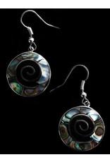 Abalone Shell Spiral Earrings