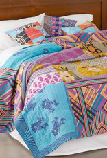 Queen-size Kantha Cool Bedcover