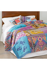Queen-size Kantha Cool Bedcover, India