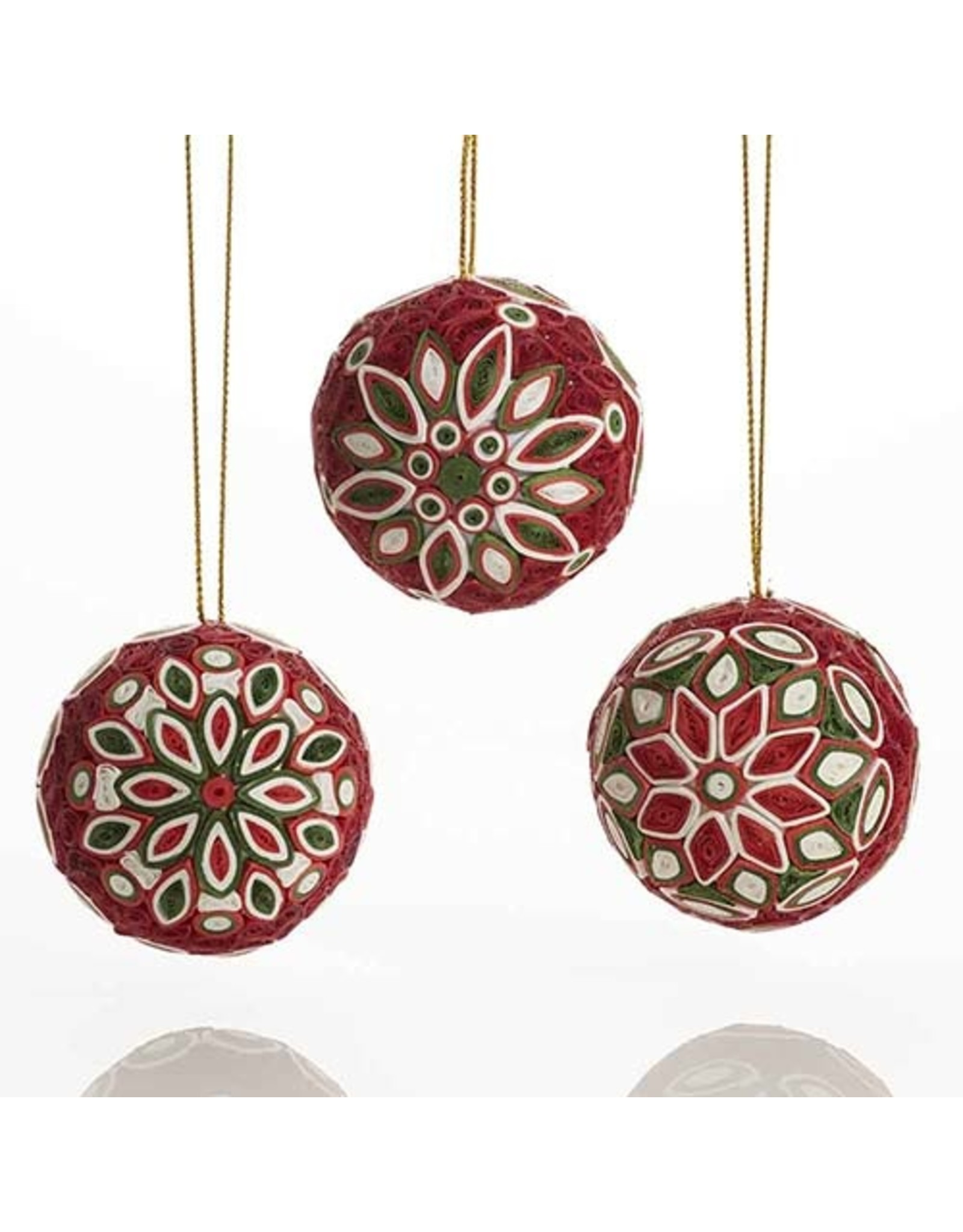 Quilled Christmas Balls - SOLD INDIVIDUALLY