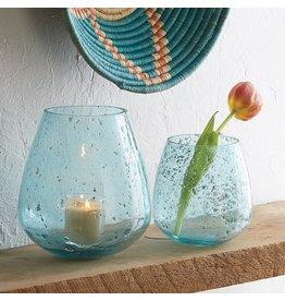 Jodpur Blue Bubble Vase Round SMALL (right), India