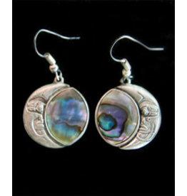 Abulon Moon Shell Earrings, Mexico