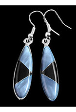 Obsidian Oblong Earrings, Mexico