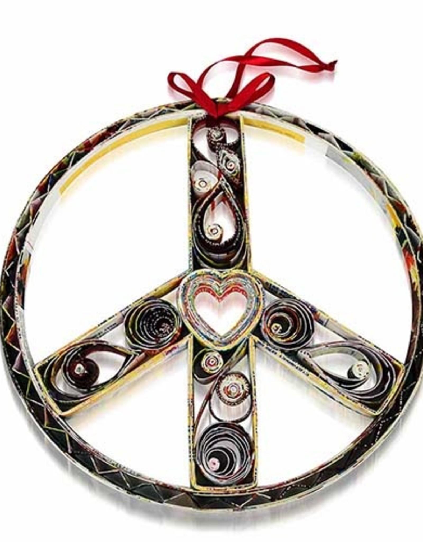 Paper Peace Wreath