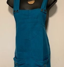 Cotton Jumper Dress w/ Pockets, Teal