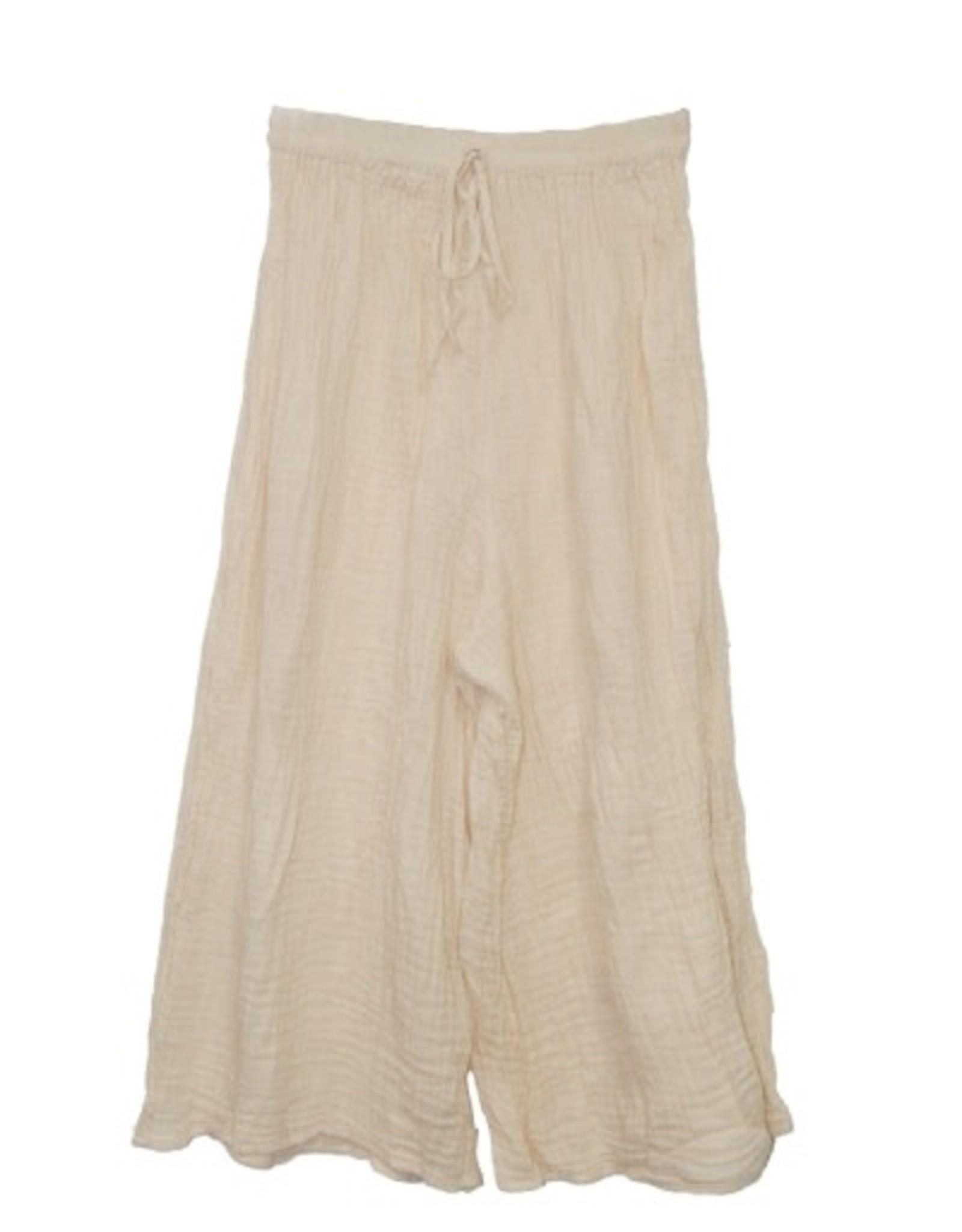 Double Cotton Crinkle Pants, Natural L/XL, Thailand
