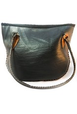 Recycled Tire 1/2 Moon Bag, Nepal