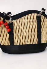 Mini Kiri Wave Basket Purse Brown Speckled